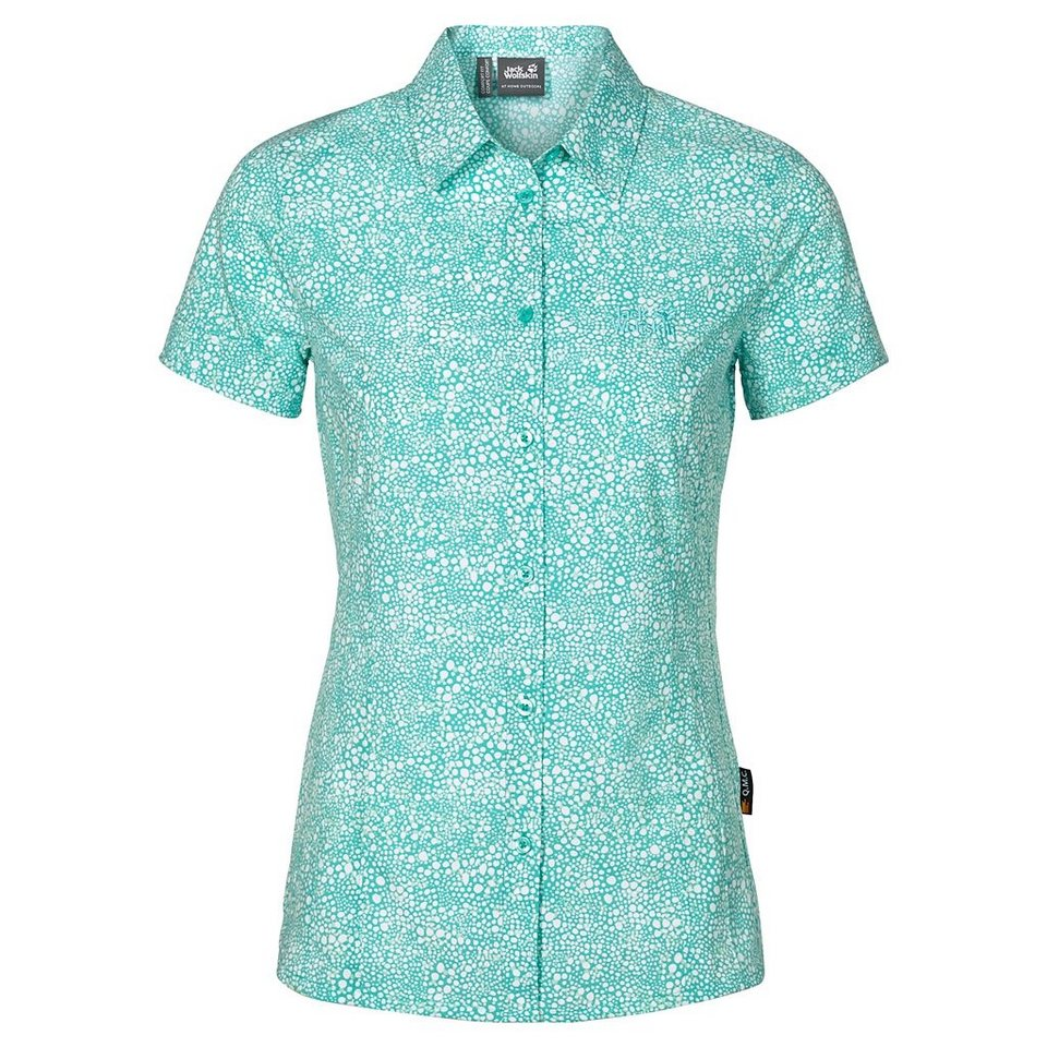 Jack Wolfskin Outdoorbluse »WAHIA PRINT SHIRT W« in pool blue all over