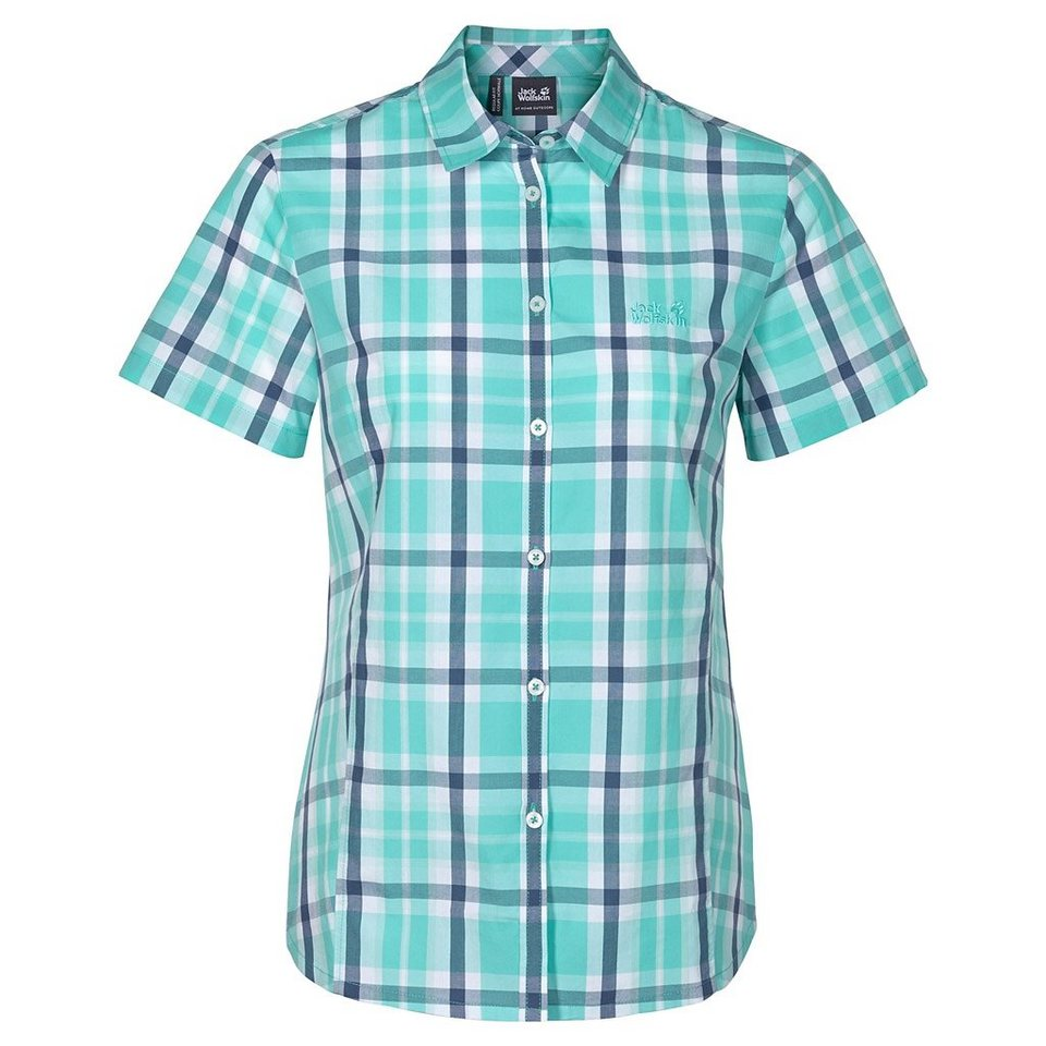 Jack Wolfskin Outdoorbluse »AORAKI SHIRT W« in pool blue checks