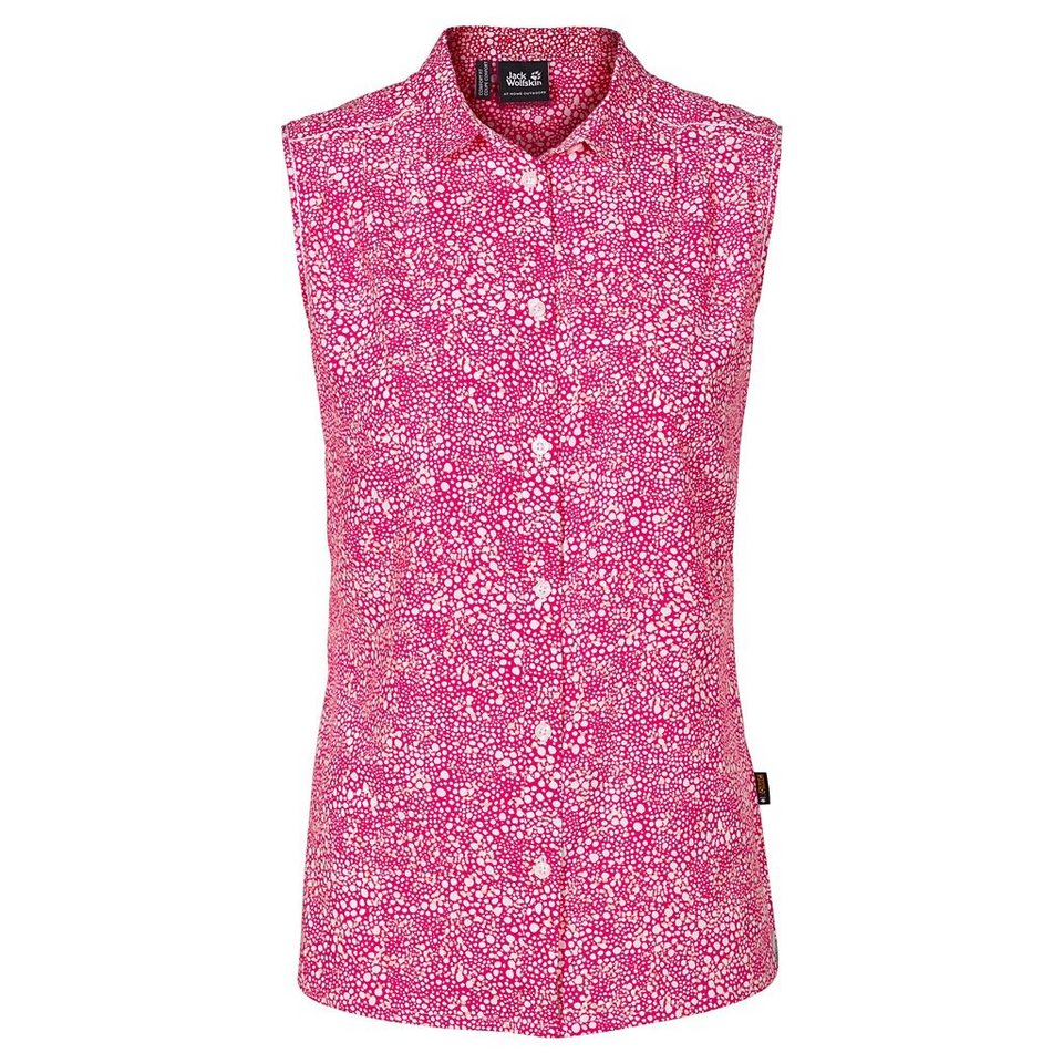 Jack Wolfskin Outdoorbluse »WAHIA PRINT SLEEVELESS SHIRT W« in pink raspberry all o