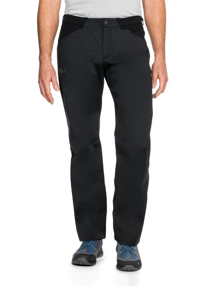 Jack Wolfskin Outdoorhose »HIGHLAND FLEX II PANTS M« in black