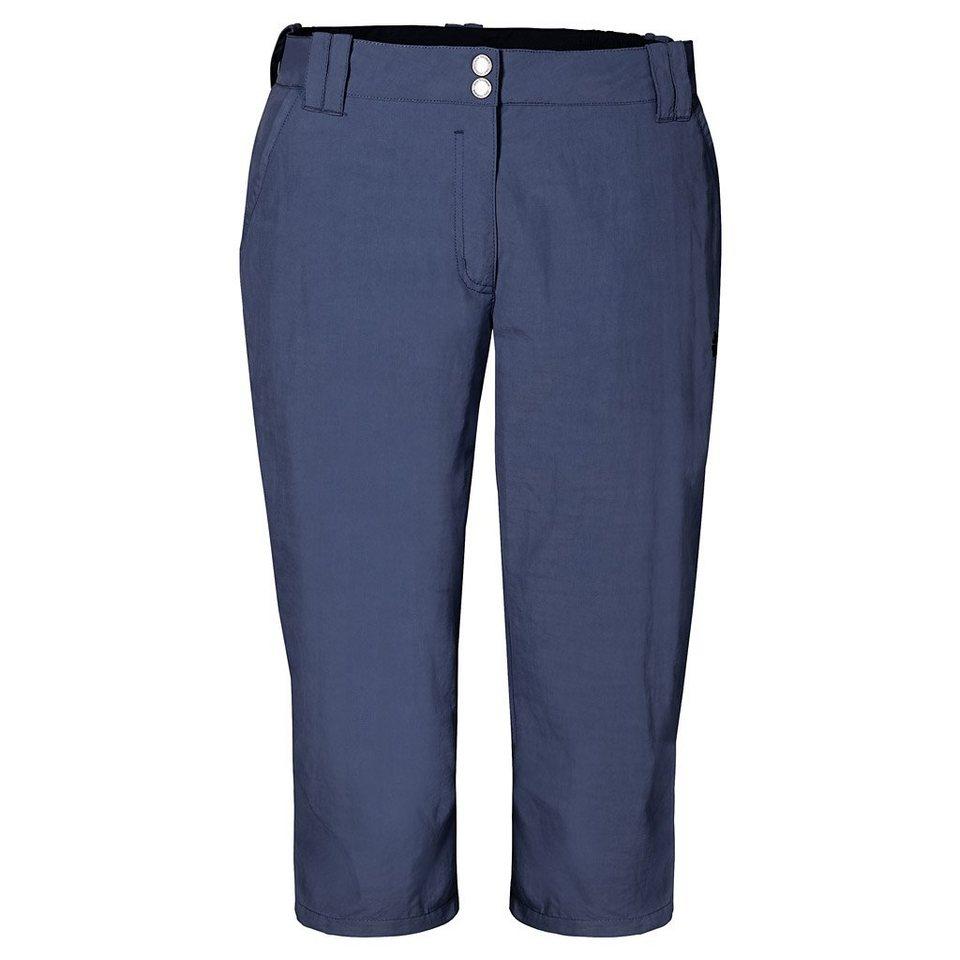 Jack Wolfskin Outdoorhose »KALAHARI 3/4 PANTS W« in blue indigo