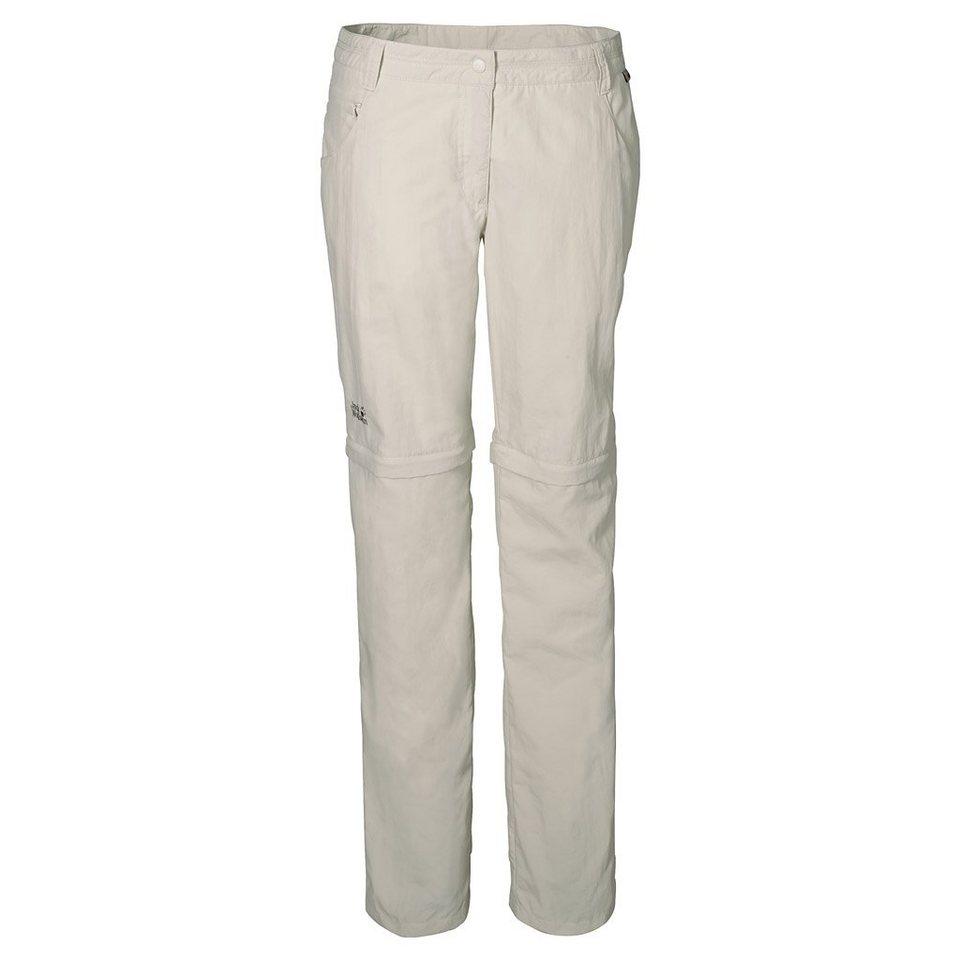 Jack Wolfskin Outdoorhose »MARRAKECH ZIP OFF PANTS WOMEN« in white sand