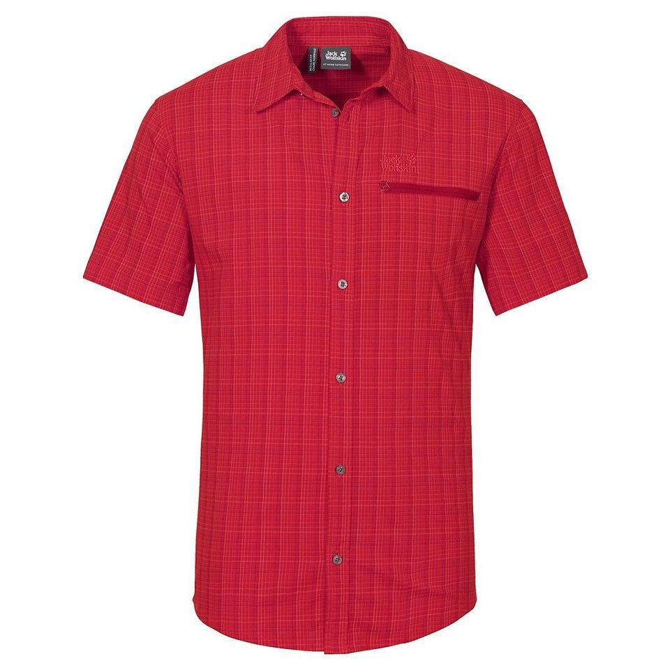Jack Wolfskin Outdoorhemd »RAYS STRETCH VENT SHIRT M« in red fire checks