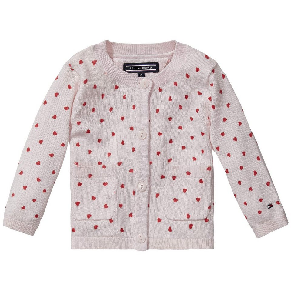 Tommy Hilfiger Cardigans »HEART BABY GIRL CARDIGAN L/S« in Ballerina