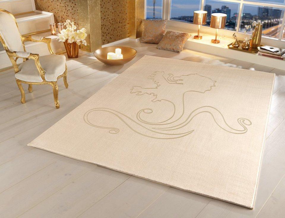 Teppich, OTTO KERN, »Lion«, gewebt, aus reiner Neuseelandwolle in creme