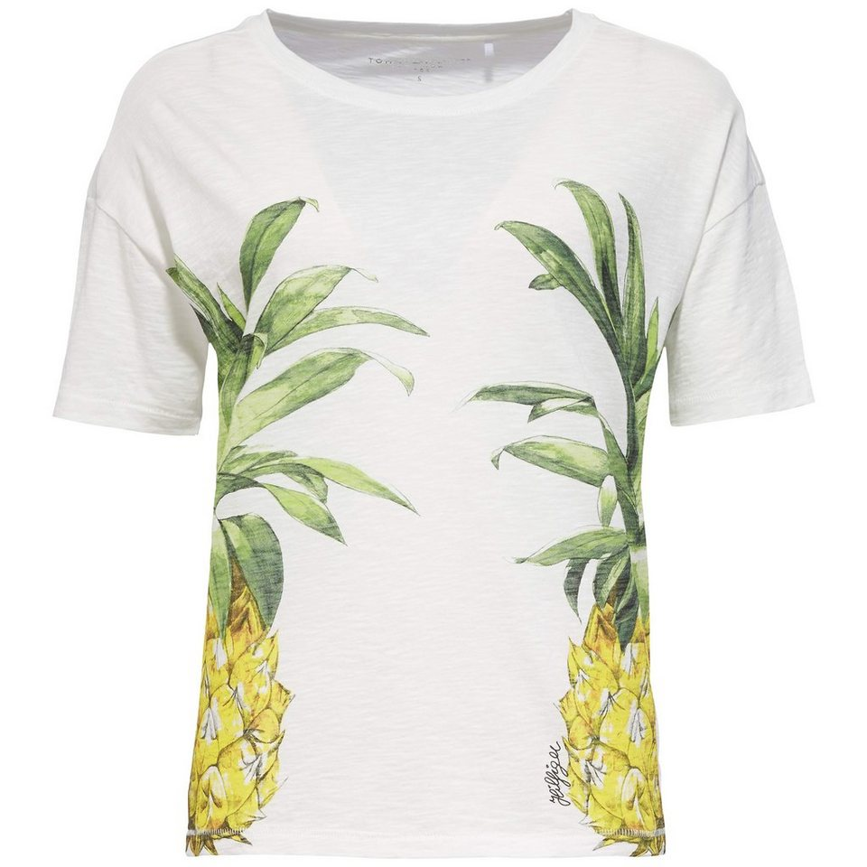 Tommy Hilfiger T-Shirts (mit Arm) »REFLECTED PINEAPPLE TEE SS« in WHITE