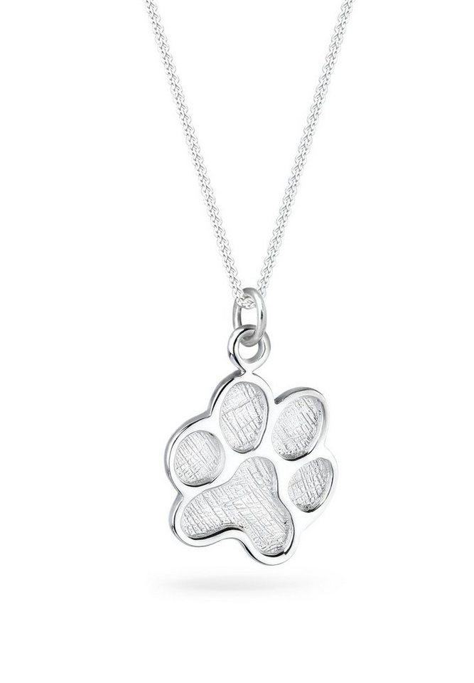 Elli Halskette »Pfote Motiv Hund 925 Silber« in Silber