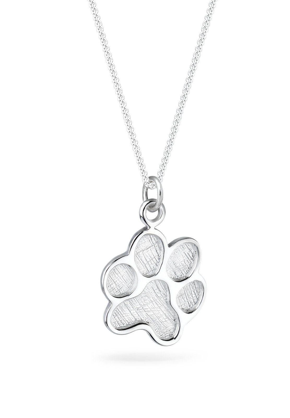 Elli Halskette »Pfote Motiv Hund 925 Silber«
