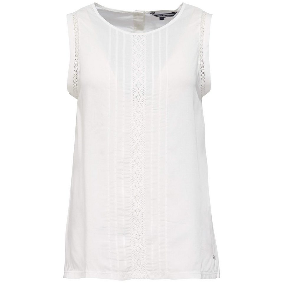 Tommy Hilfiger Tops (Wirk) »LENORE C-NK TOP NS« in WHITE