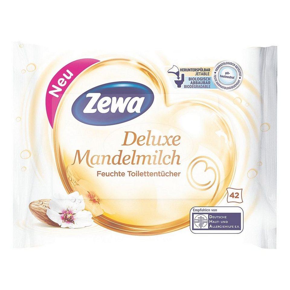 Zewa Feuchte Toilettentücher »Deluxe Mandelmilch«