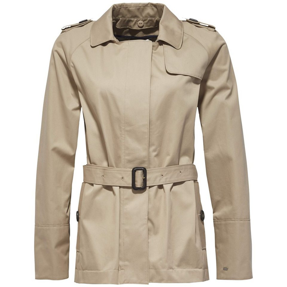Tommy Hilfiger Outdoorjacken »CITY COTTON SHORT TRENCH« in CLASSIC CAMEL
