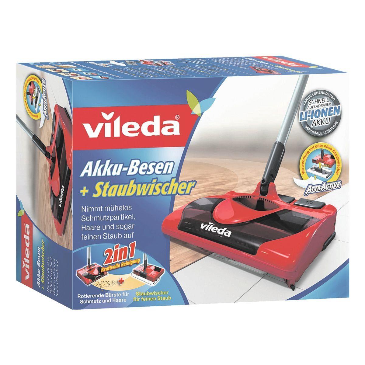 Vileda Akku-Besen mit integriertem Staubwischer