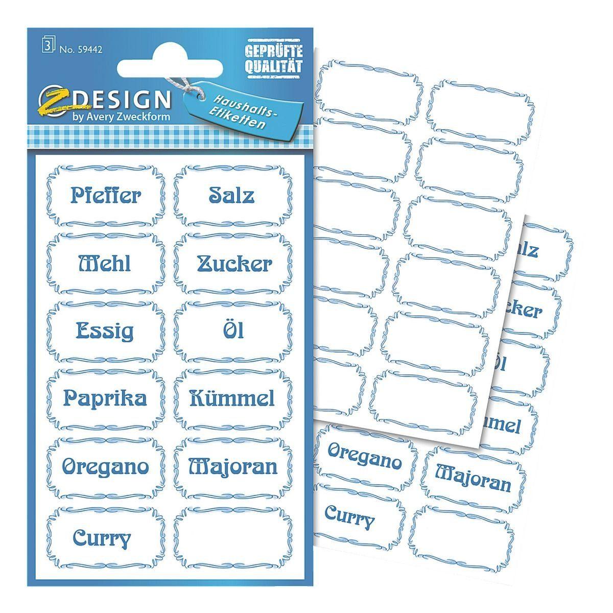 Z-Design Papier-Sticker »Zutaten«