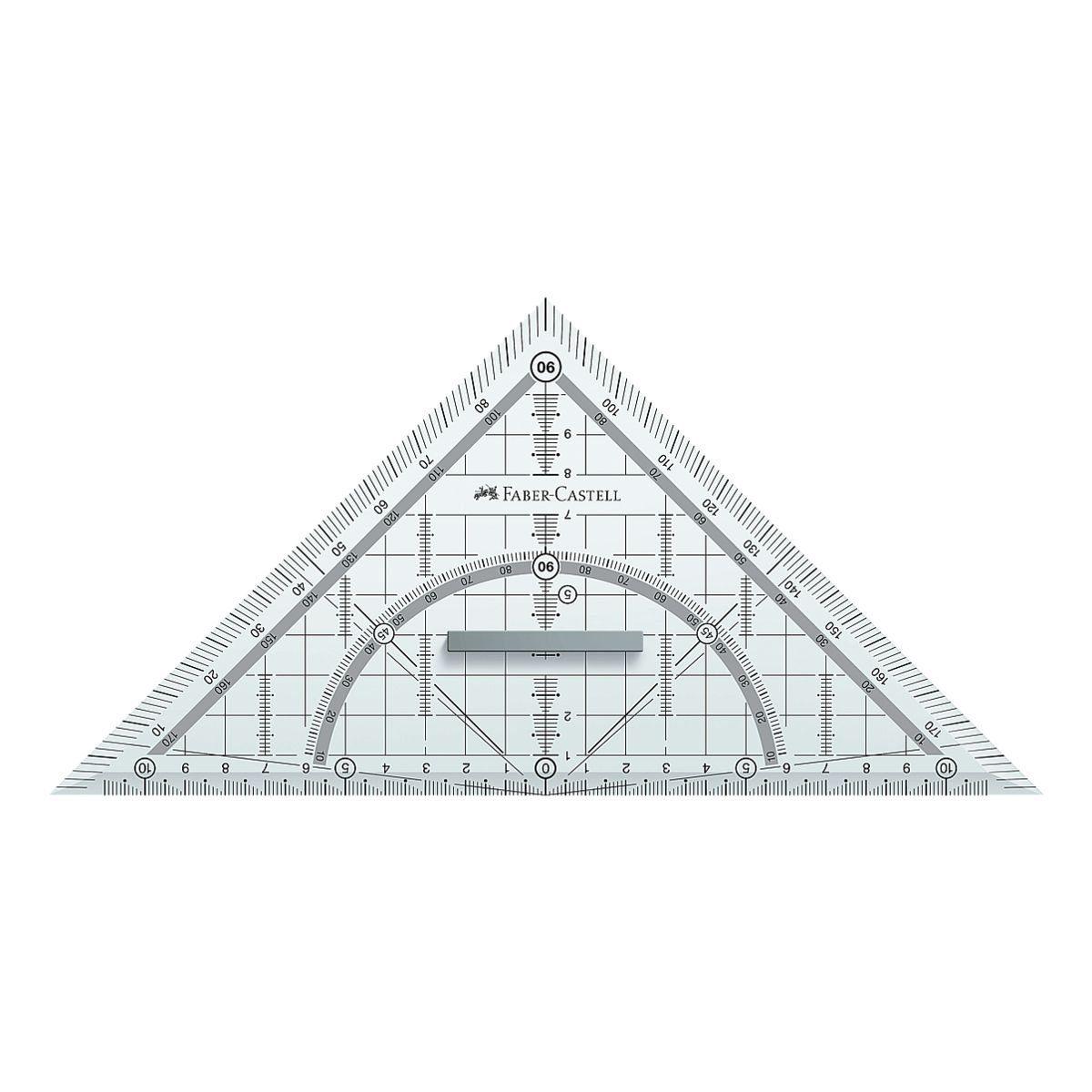 Faber-Castell Geometriedreieck 22 cm mit Griff
