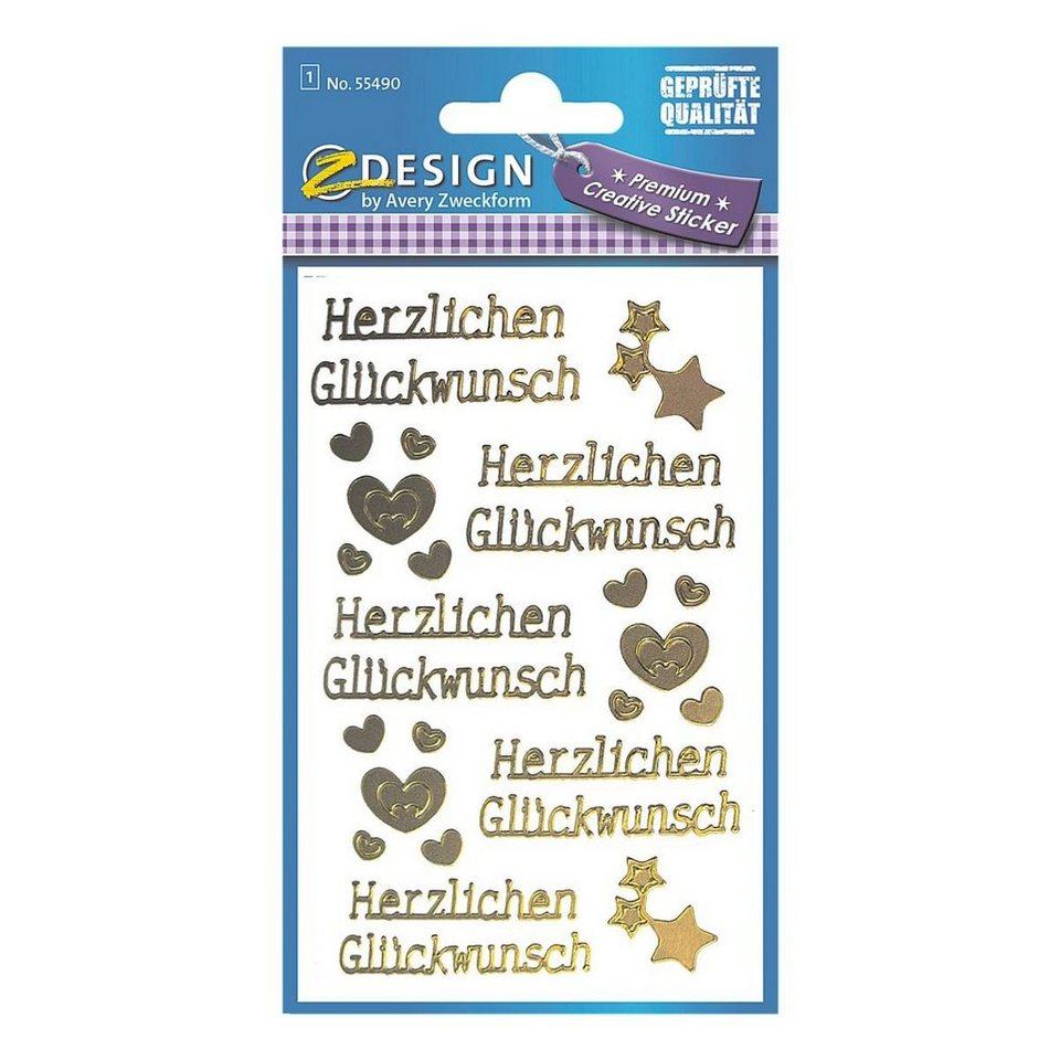 Z-Design Sticker »Glückwunsch«