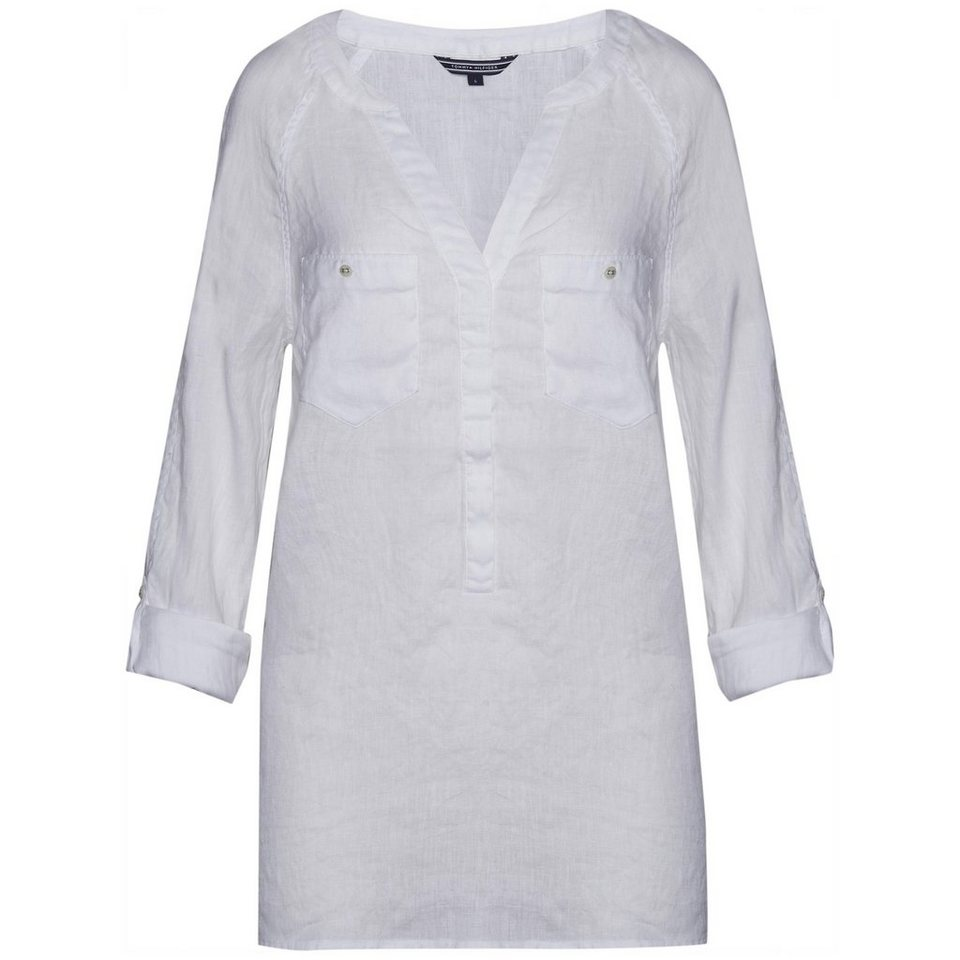 Tommy Hilfiger Blusen »DINA BLOUSE LS« in WHITE