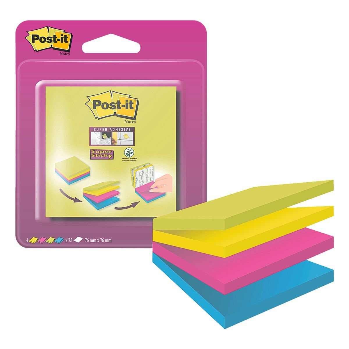 Post-it Super Sticky Haftnotizblock 7,6 x 7,6 cm »Notes«