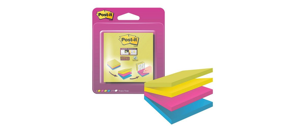 Post-it Super Sticky Haftnotizblock »Notes«