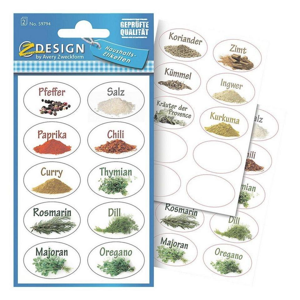 Z-Design Papier-Sticker »Gewürze«