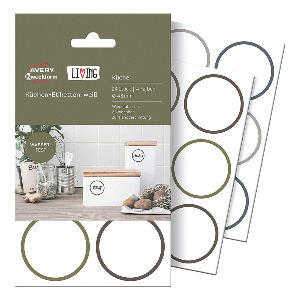 Avery Zweckform Küchen-Etiketten