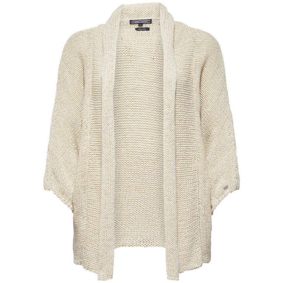 Tommy Hilfiger Strickjacken »HORSARO WRAP« in WHITE
