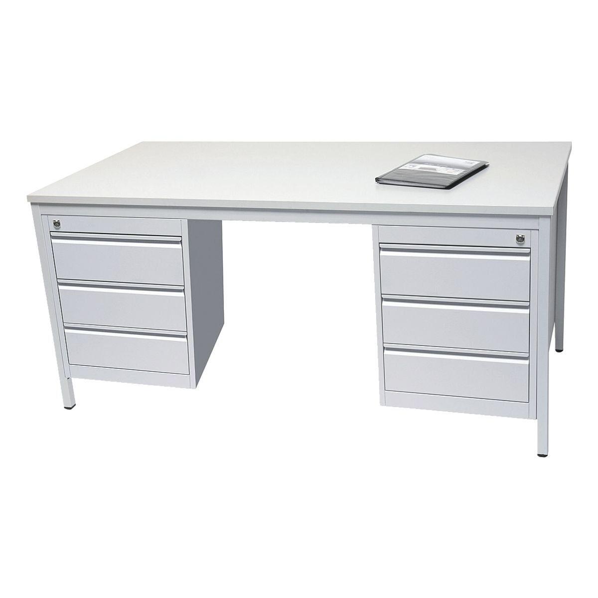 Arbeitstisch 160 cm mit Schubladenschrank