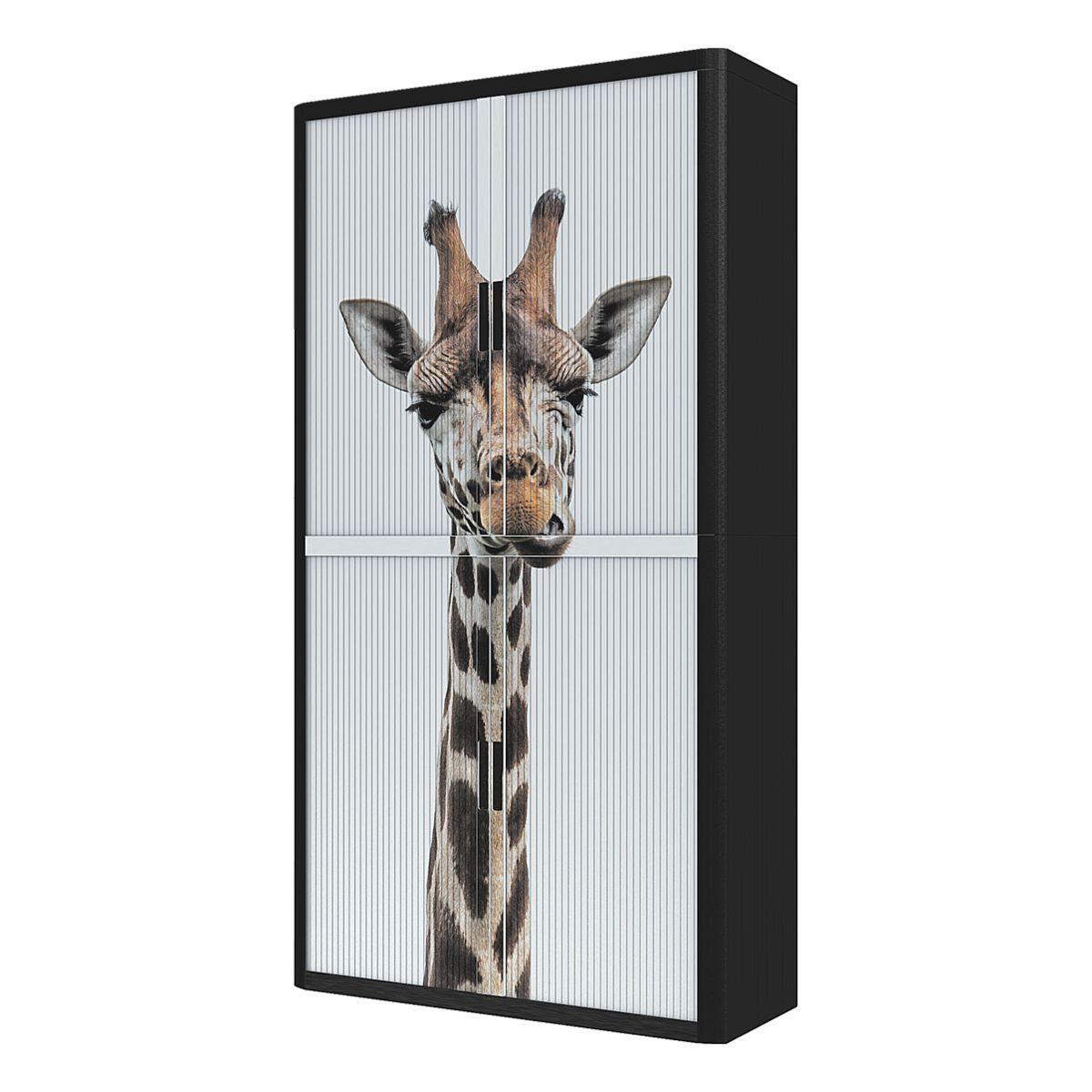 EASYOFFICE Rollladenschrank Motiv Giraffe