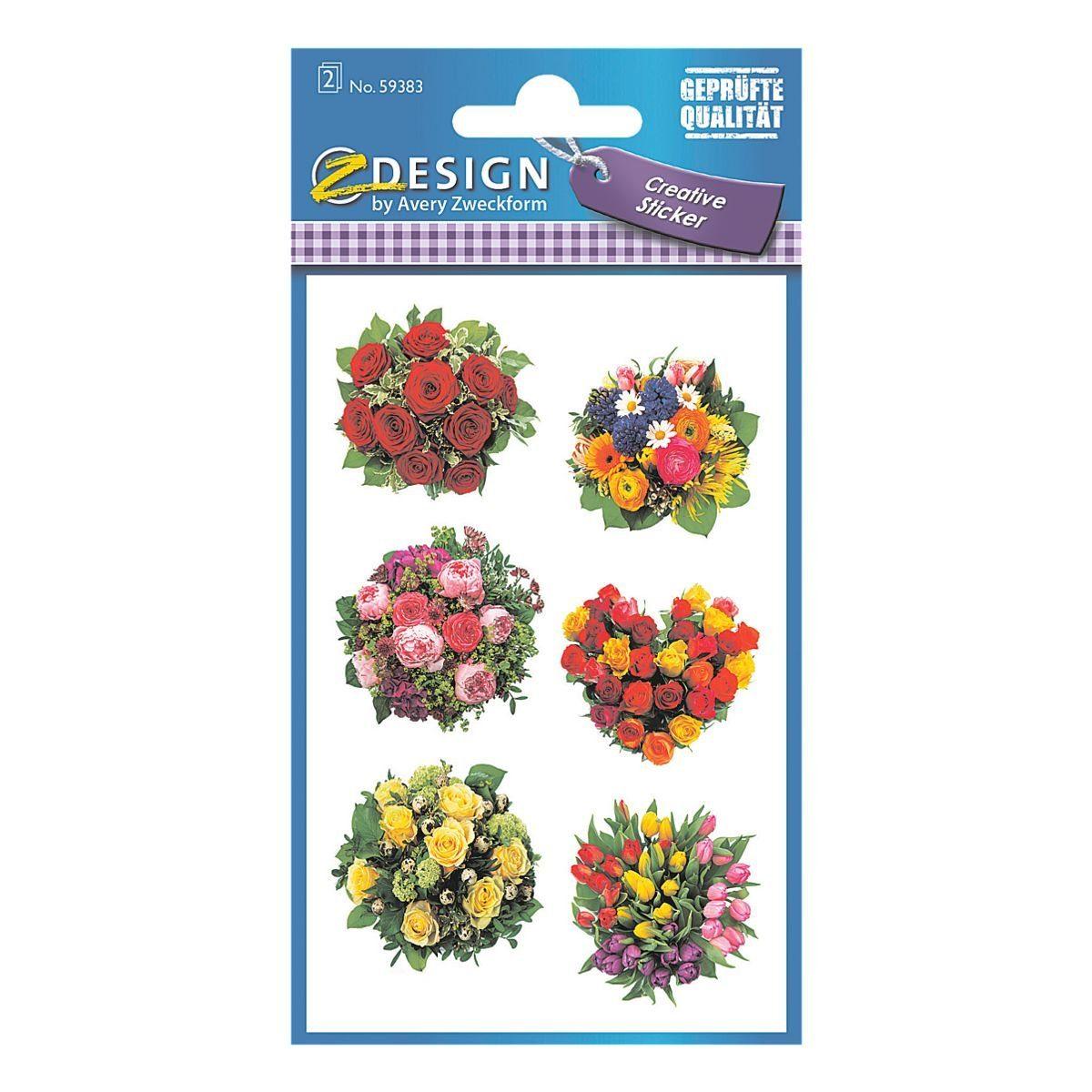 Z-Design Papier Sticker »Blumensträuße«