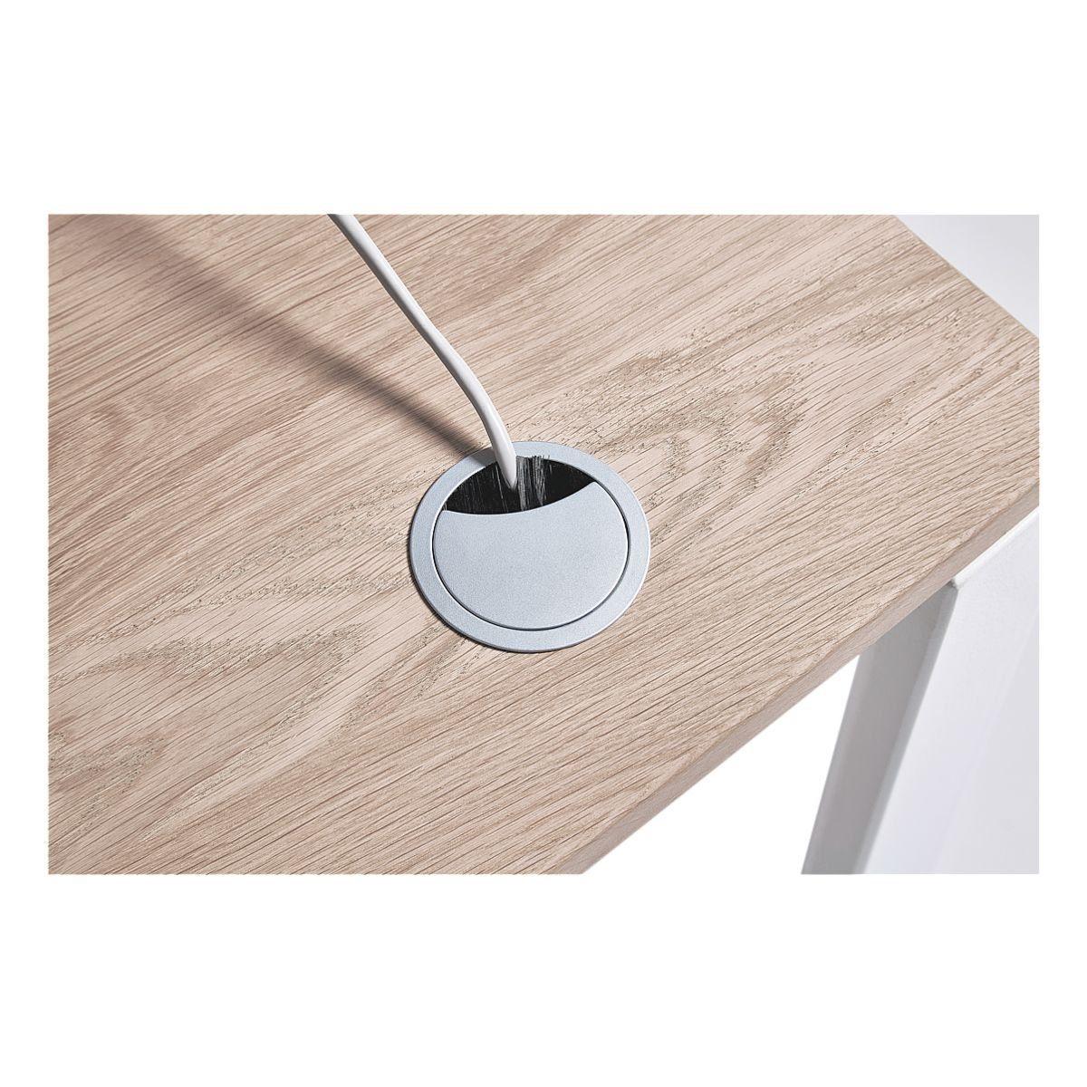 Kabeldurchlass mit Bohrung für Tischplatte rechts »Objekt Pur«