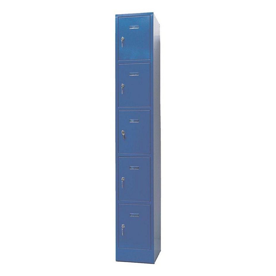Garderobenschrank in blau