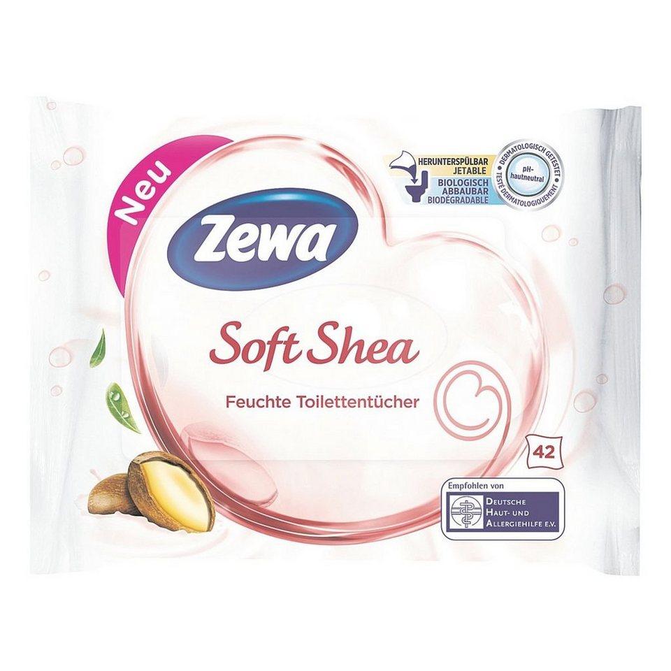 Zewa Feuchte Toilettentücher »Soft Shea«