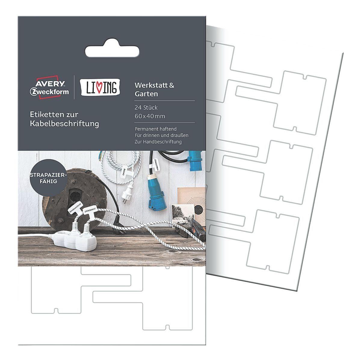 Avery Zweckform Etiketten zur Kabelbeschriftung