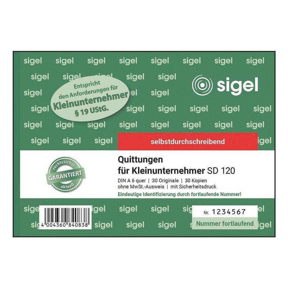 Sigel Formularbuch »Quittungen für Kleinunternehmer SD 12...