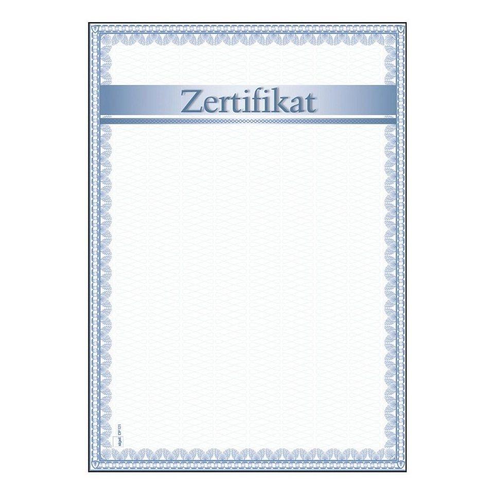 Sigel Motiv-Papiere »Zertifikat«