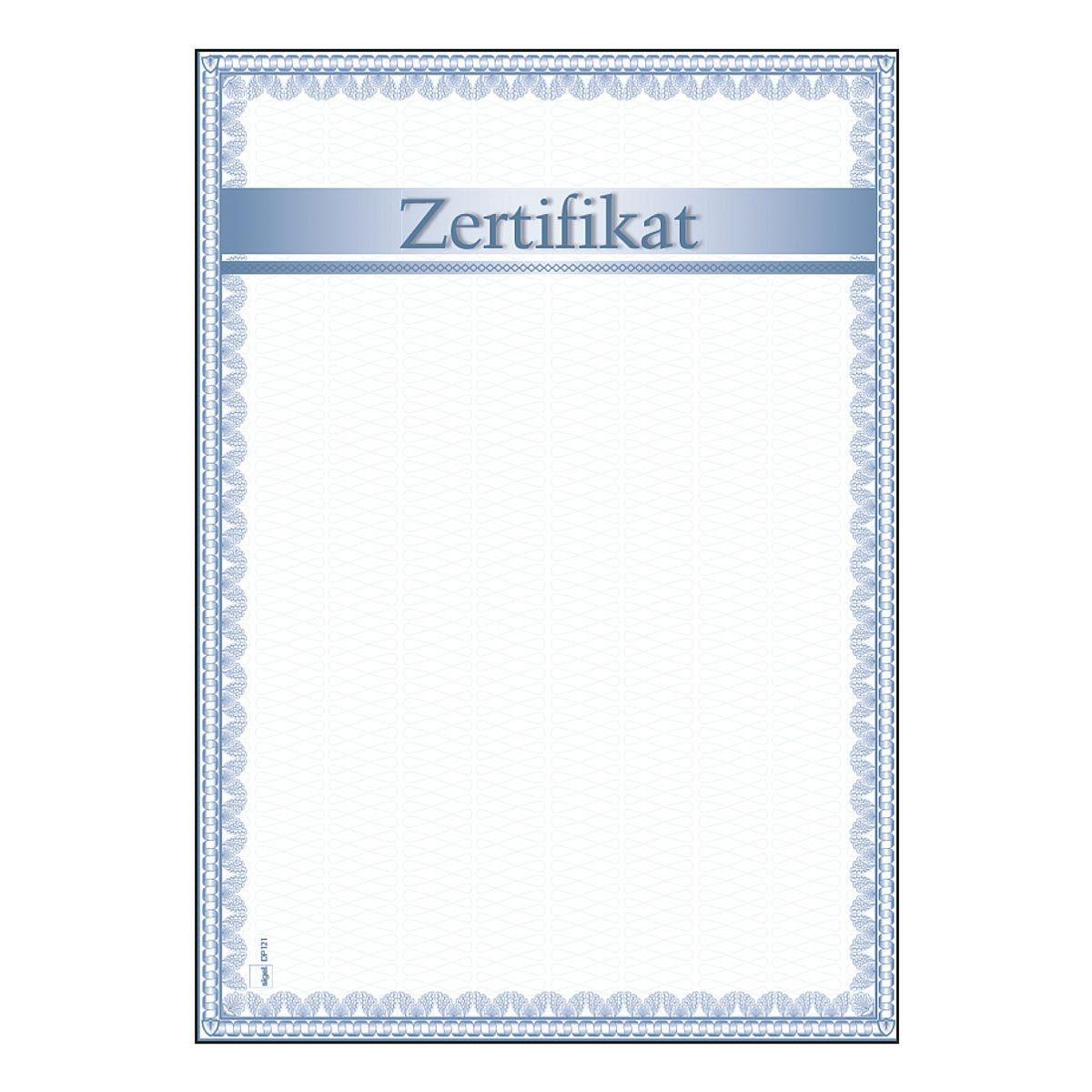 Sigel Motiv-Papiere DP121 »Zertifikat«