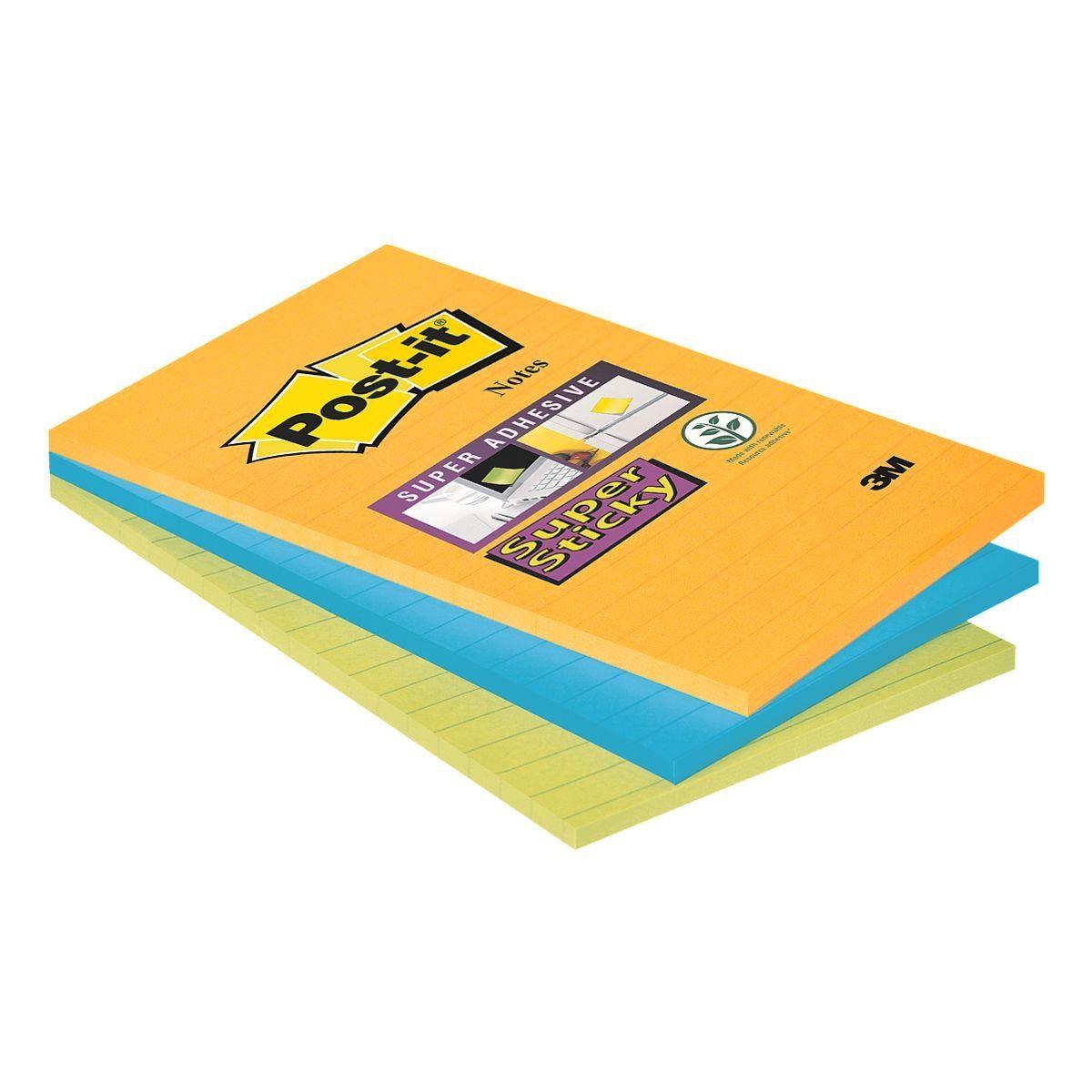SUPERSTICKY Haftnotizblock 15,2 x 10,1 cm, 3 Stück »Notes liniert«
