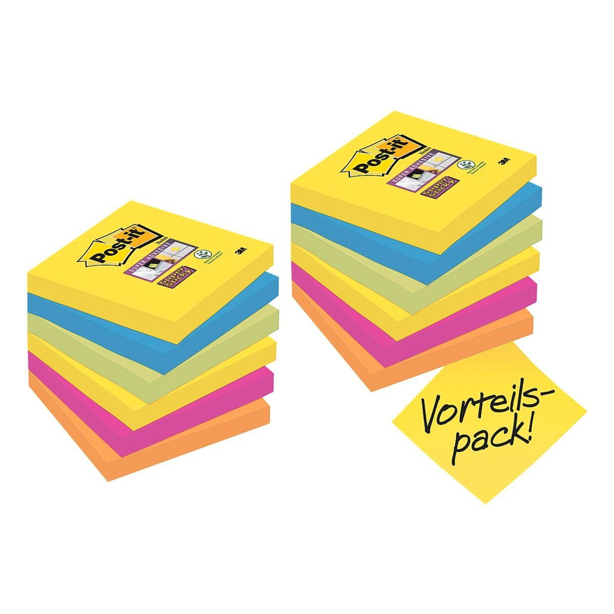 Post-it Super Sticky 12er Pack Haftnotizen »Rio«