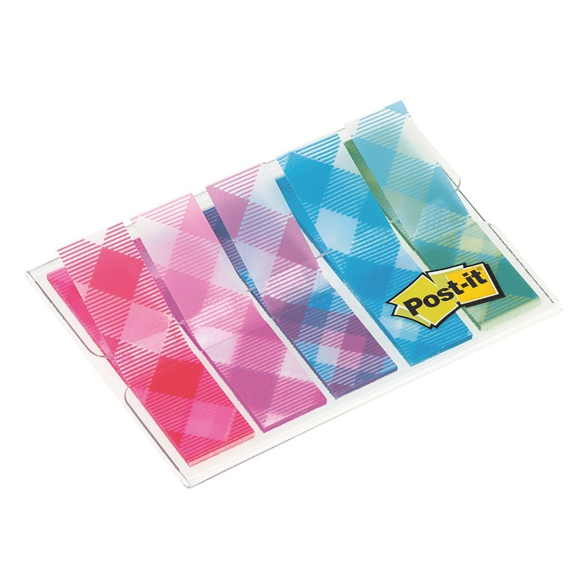Post-it Index Haftstreifen 43,2 x 11,9 mm »Gingham Collection«