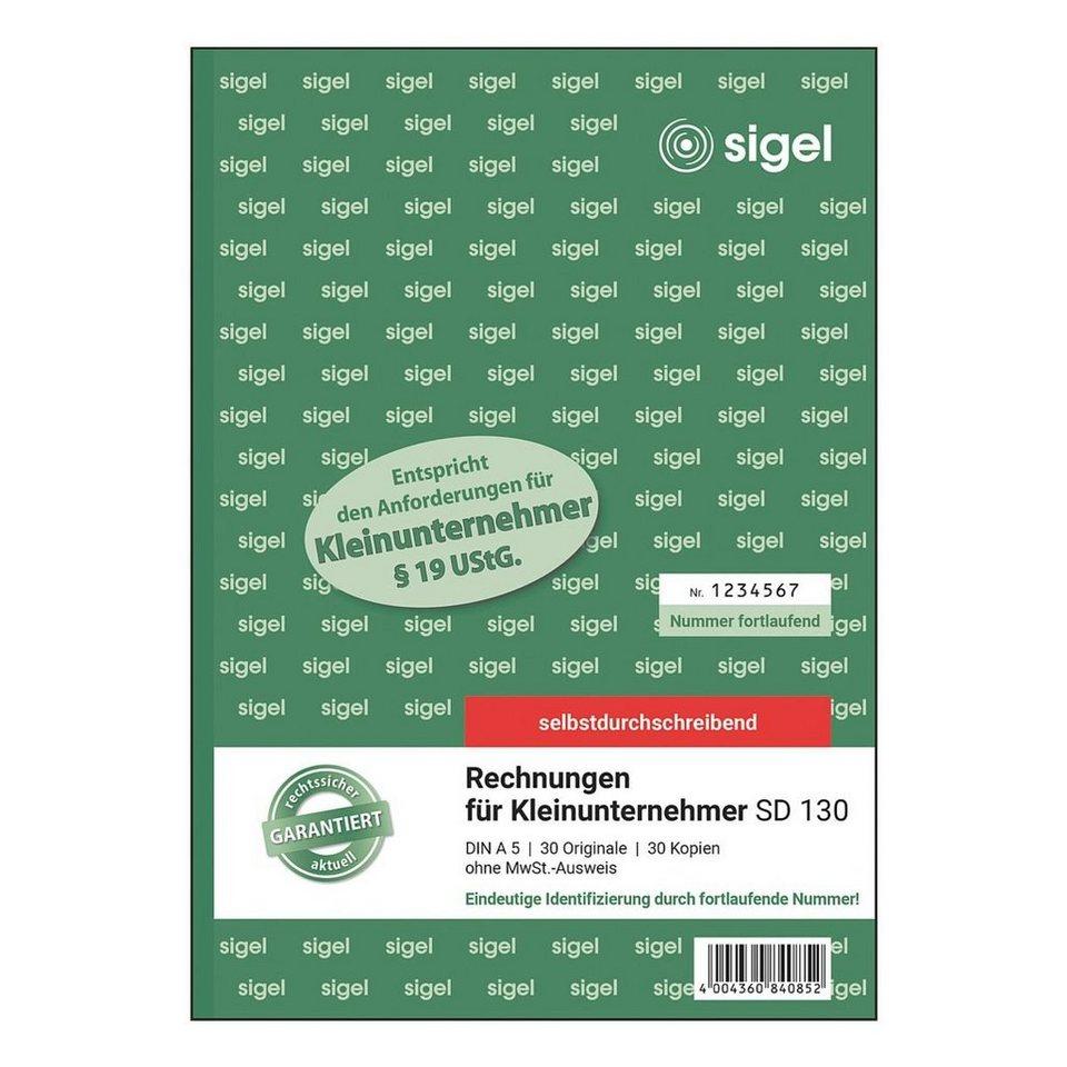 Sigel Formularbuch »Rechnung für Kleinunternehmer SD 130...