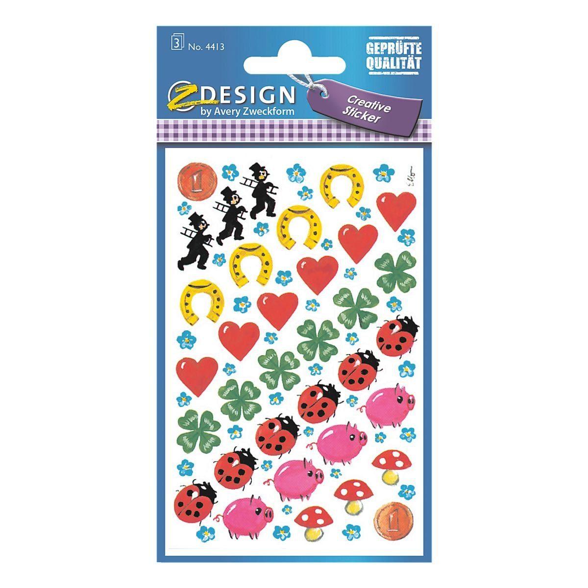 Z-Design Papier Sticker »Glücksbringer«