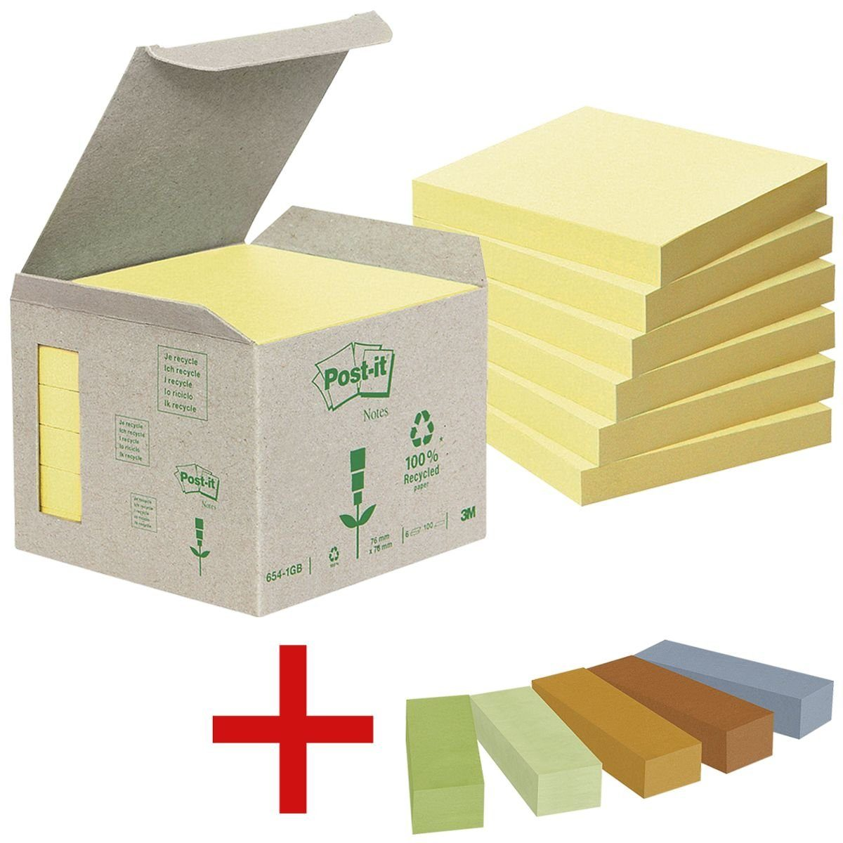 Post-it Notes (Recycle) Haftnotizblo... »Recycling Notes 654« 1 Set