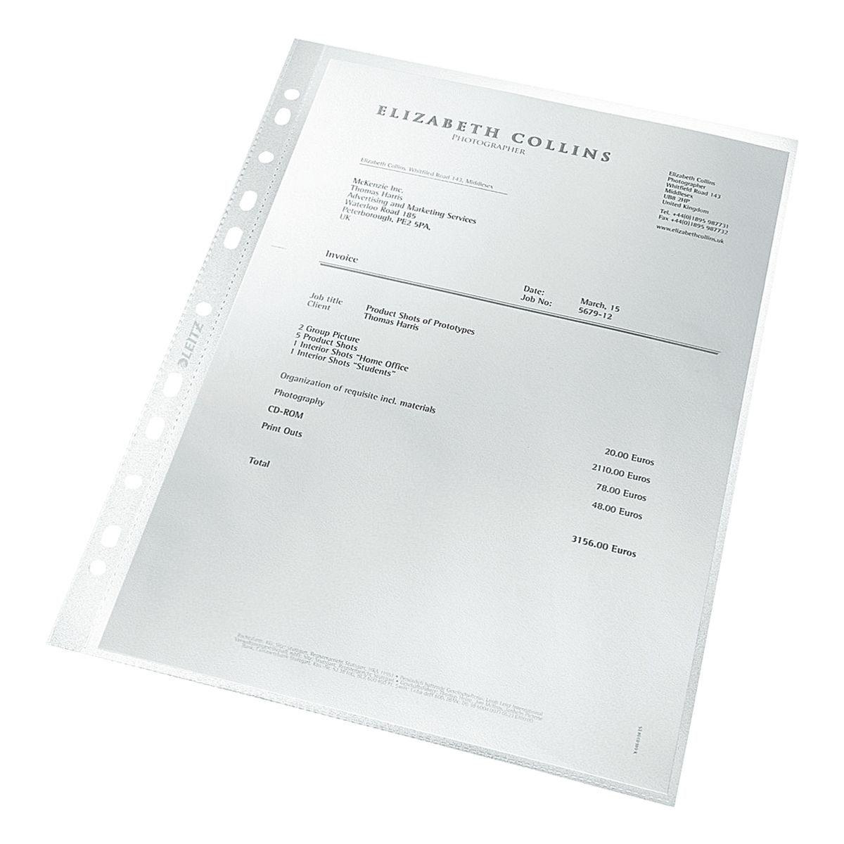 LEITZ Prospekthüllen 4791 A4 genarbt - 100 Stück »re:cycle«