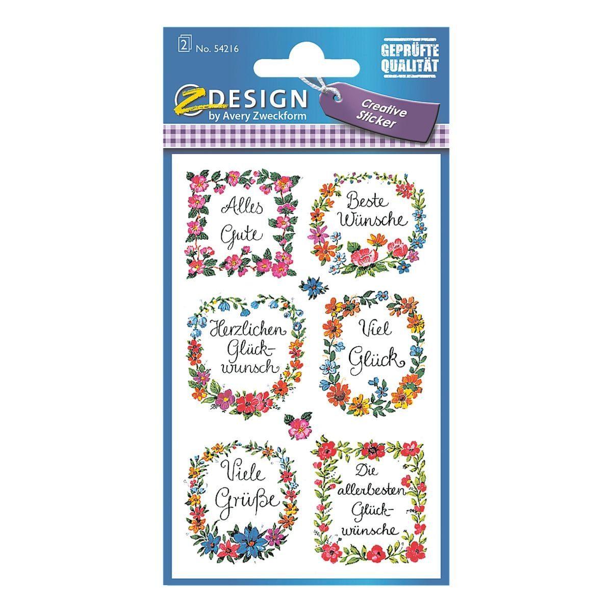 Z-Design Papier Sticker »Widmung«