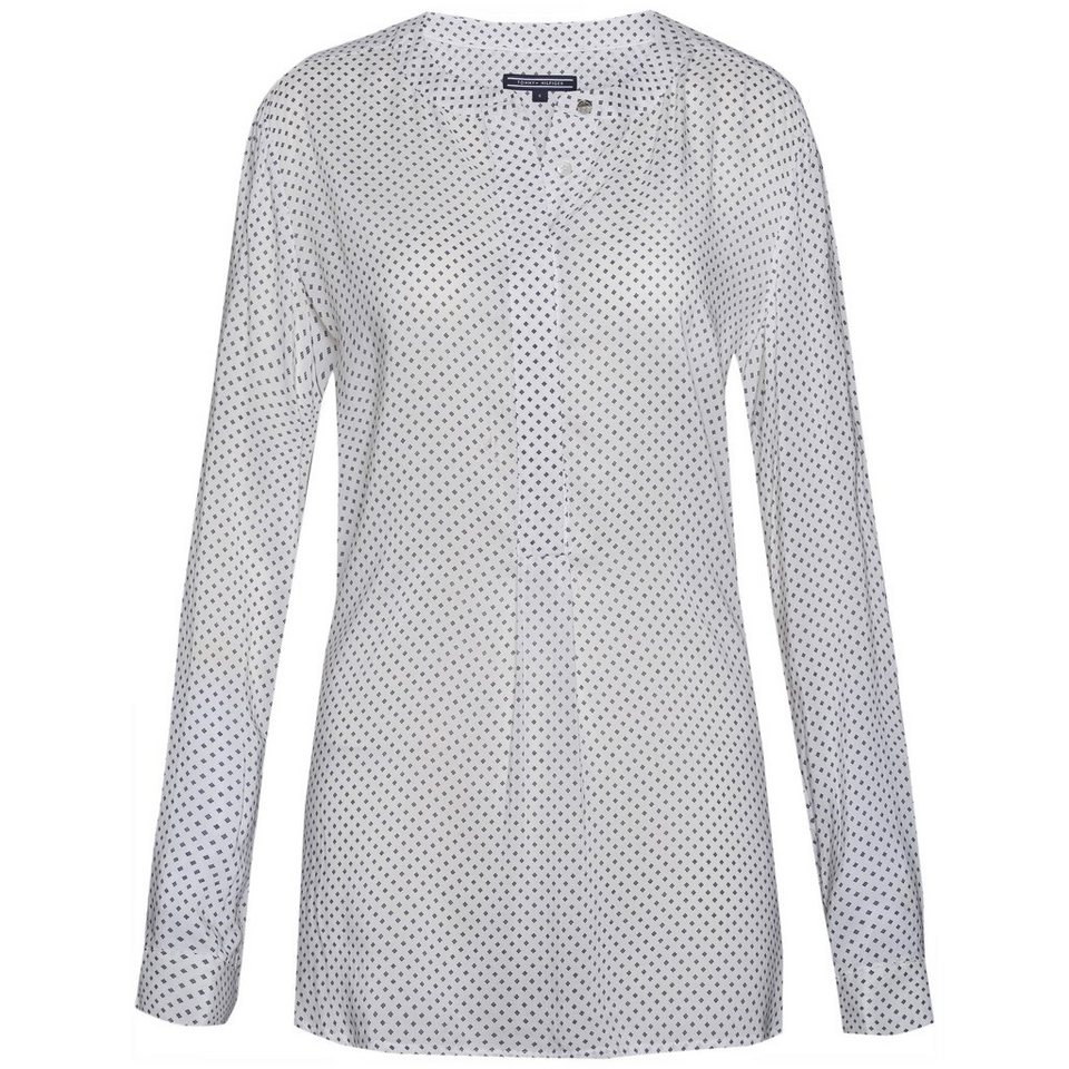 Tommy Hilfiger Blusen »DEMI BLOUSE LS« in WHITE