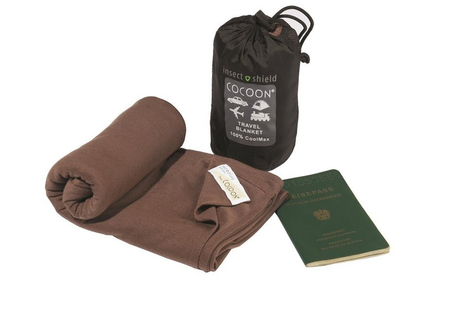 Cocoon Reisedecke »Insect Shield Travel Blanket CoolMax« in braun