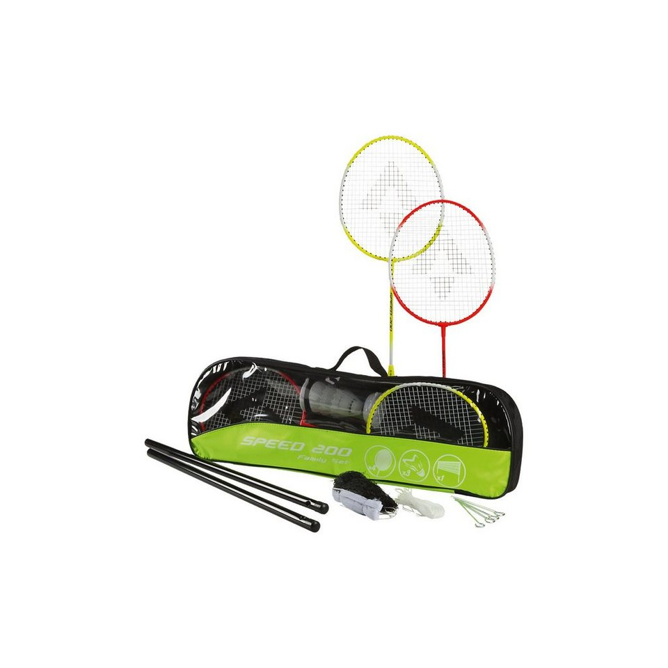 Tecnopro Beach-Badminton-Set Speed 200 Familie in gelb/rot