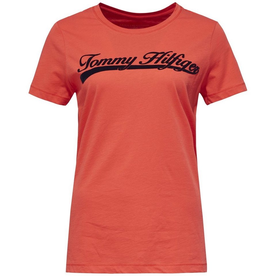 Tommy Hilfiger T-Shirts (mit Arm) »TRADITIONAL HILFIGER SCRIPT TEE SS« in HIBISCUS