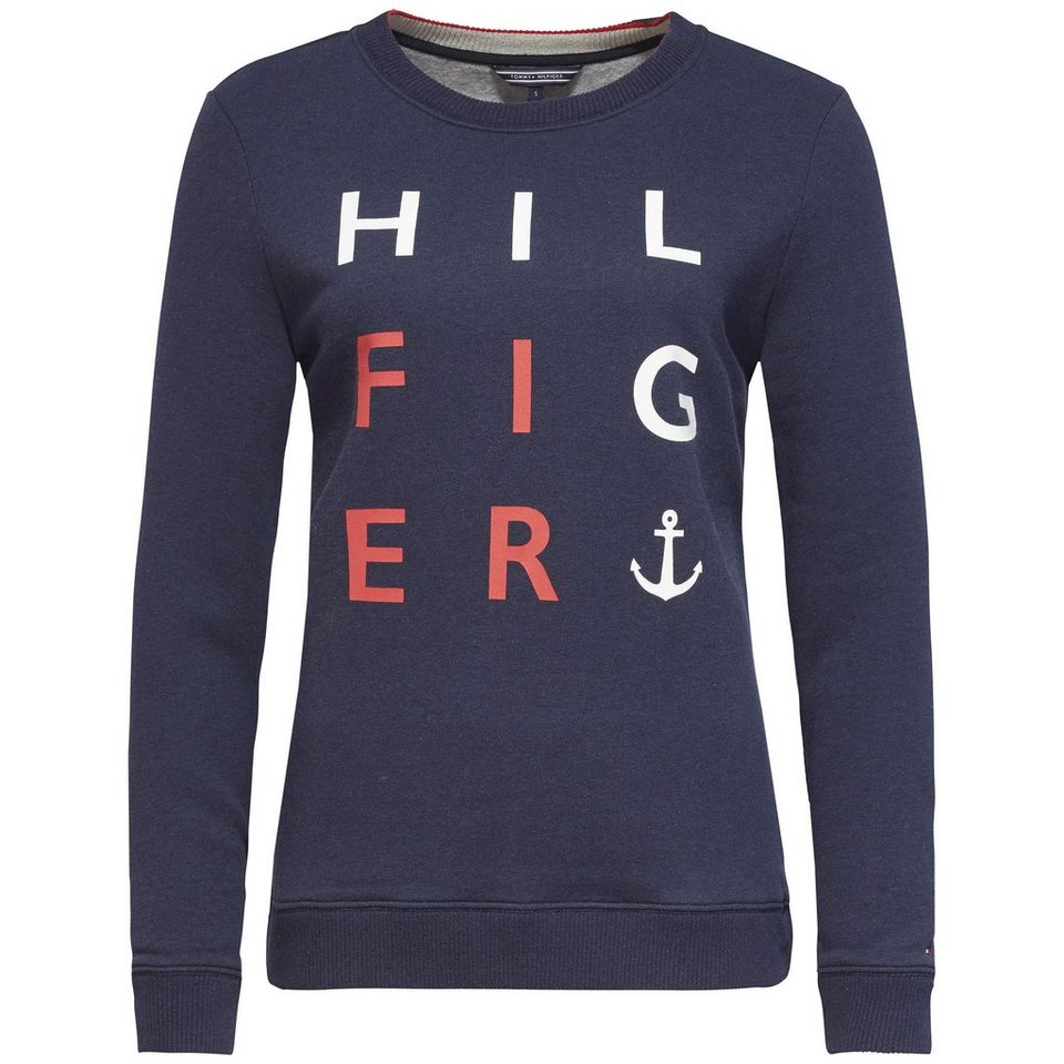Tommy Hilfiger Sweatshirts »MABEL LOGO C-NK SWEATSHIRT LS« in NIGHT SKY HTR