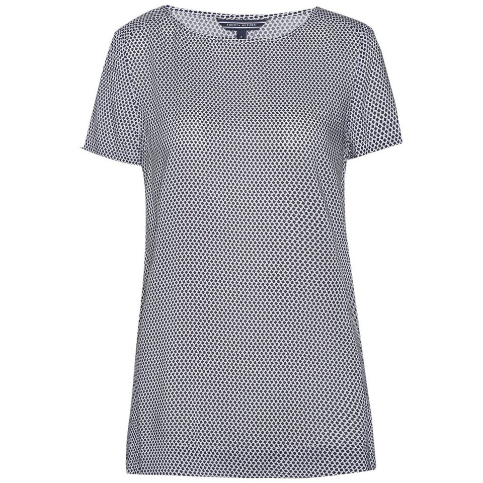 Tommy Hilfiger Blusen »NELDA PRT TOP SS« in WHITE / BLUE