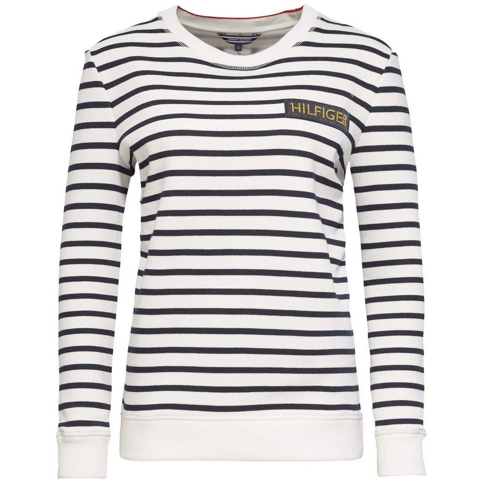 Tommy Hilfiger Sweatshirts »MABEL STP C-NK SWEATSHIRT LS« in SNOW WHITE / NIGHT SKY